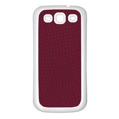 Camouflage Seamless Texture Maps Red Beret Cloth Samsung Galaxy S3 Back Case (White)