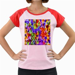 Green Jellyfish Yellow Pink Red Blue Rainbow Sea Purple Women s Cap Sleeve T-Shirt