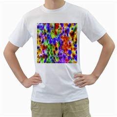 Green Jellyfish Yellow Pink Red Blue Rainbow Sea Purple Men s T-Shirt (White) (Two Sided)