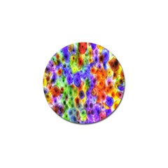 Green Jellyfish Yellow Pink Red Blue Rainbow Sea Purple Golf Ball Marker (4 pack)