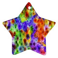 Green Jellyfish Yellow Pink Red Blue Rainbow Sea Purple Star Ornament (Two Sides)