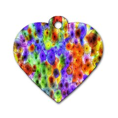 Green Jellyfish Yellow Pink Red Blue Rainbow Sea Purple Dog Tag Heart (Two Sides)