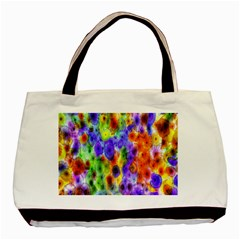 Green Jellyfish Yellow Pink Red Blue Rainbow Sea Purple Basic Tote Bag (Two Sides)
