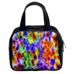 Green Jellyfish Yellow Pink Red Blue Rainbow Sea Purple Classic Handbags (2 Sides)
