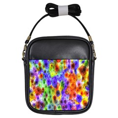 Green Jellyfish Yellow Pink Red Blue Rainbow Sea Purple Girls Sling Bags