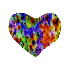 Green Jellyfish Yellow Pink Red Blue Rainbow Sea Purple Standard 16  Premium Heart Shape Cushions