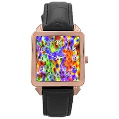 Green Jellyfish Yellow Pink Red Blue Rainbow Sea Purple Rose Gold Leather Watch