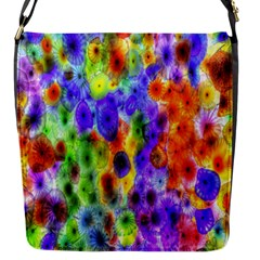 Green Jellyfish Yellow Pink Red Blue Rainbow Sea Purple Flap Messenger Bag (S)