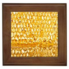 Honeycomb Fine Honey Yellow Sweet Framed Tiles
