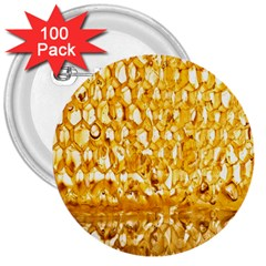 Honeycomb Fine Honey Yellow Sweet 3  Buttons (100 Pack)