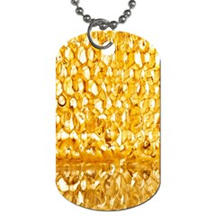 Honeycomb Fine Honey Yellow Sweet Dog Tag (Two Sides)