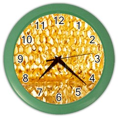 Honeycomb Fine Honey Yellow Sweet Color Wall Clocks