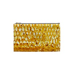 Honeycomb Fine Honey Yellow Sweet Cosmetic Bag (Small)