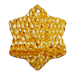 Honeycomb Fine Honey Yellow Sweet Snowflake Ornament (Two Sides)