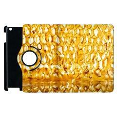 Honeycomb Fine Honey Yellow Sweet Apple iPad 2 Flip 360 Case