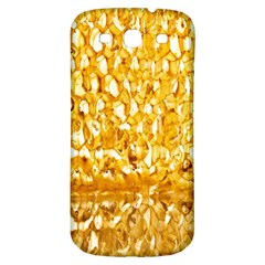 Honeycomb Fine Honey Yellow Sweet Samsung Galaxy S3 S III Classic Hardshell Back Case