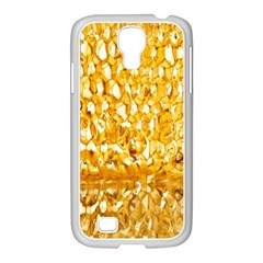 Honeycomb Fine Honey Yellow Sweet Samsung GALAXY S4 I9500/ I9505 Case (White)