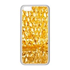 Honeycomb Fine Honey Yellow Sweet Apple iPhone 5C Seamless Case (White)