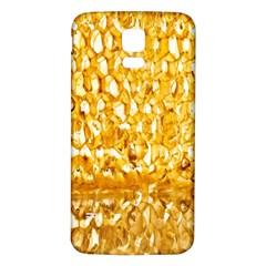 Honeycomb Fine Honey Yellow Sweet Samsung Galaxy S5 Back Case (White)
