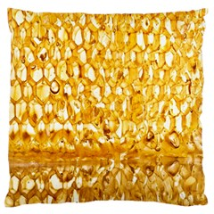 Honeycomb Fine Honey Yellow Sweet Standard Flano Cushion Case (One Side)