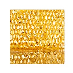 Honeycomb Fine Honey Yellow Sweet Small Satin Scarf (Square)
