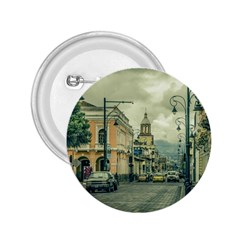Historic Center Urban Scene At Riobamba City, Ecuador 2.25  Buttons