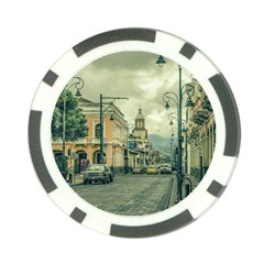 Historic Center Urban Scene At Riobamba City, Ecuador Poker Chip Card Guard (10 pack)