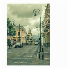Historic Center Urban Scene At Riobamba City, Ecuador Small Garden Flag (Two Sides)