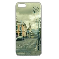 Historic Center Urban Scene At Riobamba City, Ecuador Apple Seamless iPhone 5 Case (Clear)
