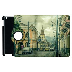 Historic Center Urban Scene At Riobamba City, Ecuador Apple iPad 3/4 Flip 360 Case
