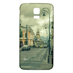 Historic Center Urban Scene At Riobamba City, Ecuador Samsung Galaxy S5 Back Case (White)