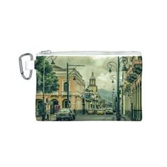 Historic Center Urban Scene At Riobamba City, Ecuador Canvas Cosmetic Bag (S)