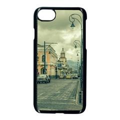 Historic Center Urban Scene At Riobamba City, Ecuador Apple Iphone 7 Seamless Case (black)