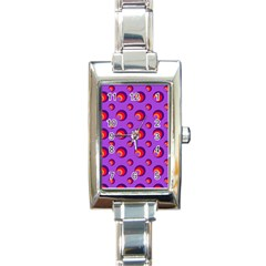 Scatter Shapes Large Circle Red Orange Yellow Circles Bright Rectangle Italian Charm Watch