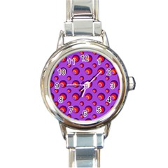 Scatter Shapes Large Circle Red Orange Yellow Circles Bright Round Italian Charm Watch