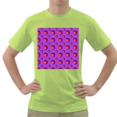 Scatter Shapes Large Circle Red Orange Yellow Circles Bright Green T-Shirt