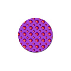 Scatter Shapes Large Circle Red Orange Yellow Circles Bright Golf Ball Marker (10 pack)