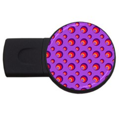 Scatter Shapes Large Circle Red Orange Yellow Circles Bright USB Flash Drive Round (4 GB)