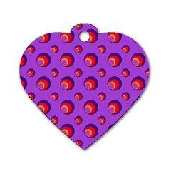 Scatter Shapes Large Circle Red Orange Yellow Circles Bright Dog Tag Heart (One Side)