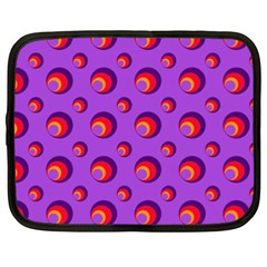 Scatter Shapes Large Circle Red Orange Yellow Circles Bright Netbook Case (XXL)