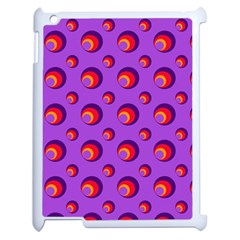 Scatter Shapes Large Circle Red Orange Yellow Circles Bright Apple Ipad 2 Case (white)