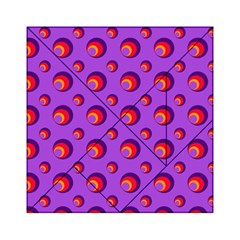 Scatter Shapes Large Circle Red Orange Yellow Circles Bright Acrylic Tangram Puzzle (6  x 6 )