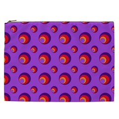 Scatter Shapes Large Circle Red Orange Yellow Circles Bright Cosmetic Bag (XXL)