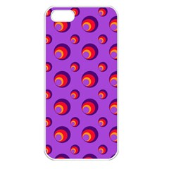 Scatter Shapes Large Circle Red Orange Yellow Circles Bright Apple Iphone 5 Seamless Case (white)