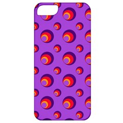 Scatter Shapes Large Circle Red Orange Yellow Circles Bright Apple iPhone 5 Classic Hardshell Case