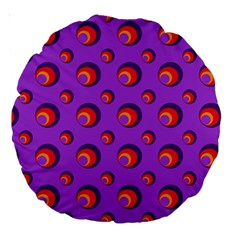 Scatter Shapes Large Circle Red Orange Yellow Circles Bright Large 18  Premium Round Cushions