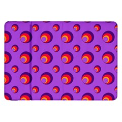 Scatter Shapes Large Circle Red Orange Yellow Circles Bright Samsung Galaxy Tab 8.9  P7300 Flip Case