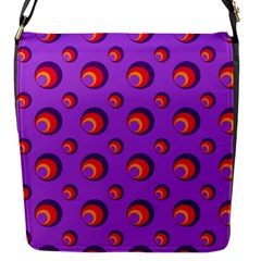 Scatter Shapes Large Circle Red Orange Yellow Circles Bright Flap Messenger Bag (s)