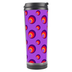Scatter Shapes Large Circle Red Orange Yellow Circles Bright Travel Tumbler