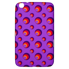 Scatter Shapes Large Circle Red Orange Yellow Circles Bright Samsung Galaxy Tab 3 (8 ) T3100 Hardshell Case